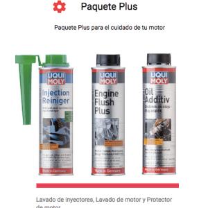 Paquete Plus para el cuidado de tu motor