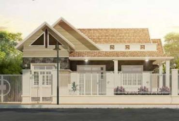 Giới thiệu mẫu thiết kế biệt thự nhà vườn 1 tầng ở Nông Thôn