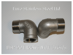 """BSP 90 Degree M/F 1/4"""" to 4"""" 316s/s"""