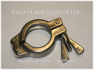 """Clamp for Clamp union Double hinge 1/2"""" to 8"""" 316s.s"""
