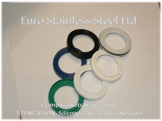 """Clamp Gaskets 1/2"""" to 8"""" - EPDM,Viton,Silicone,PTFE"""