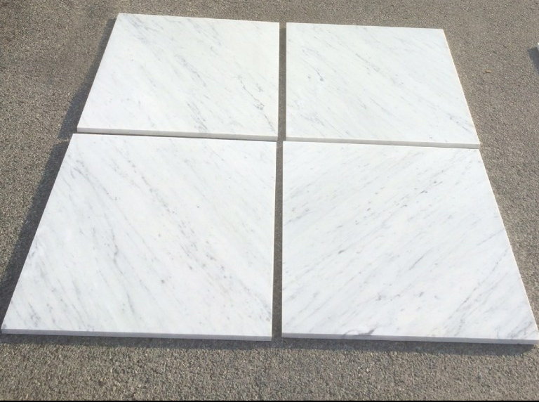 Carrara White Marble Tiles Eurostone Houston