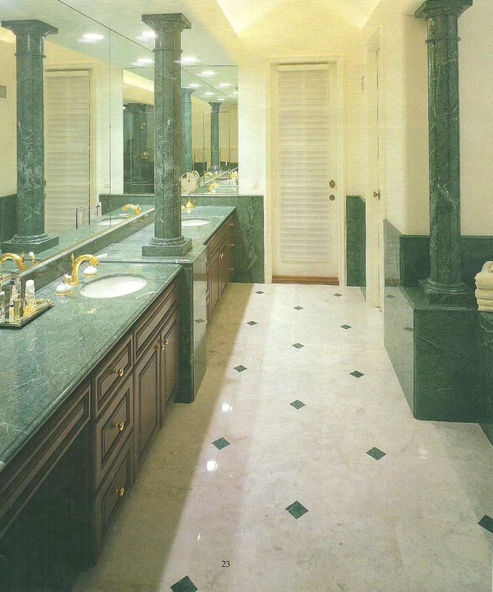 Custom Home Bathroom Design French Vanilla Marble Tiles Eurostone Houston