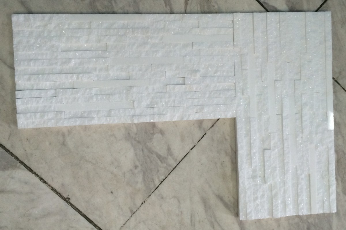Thassos White Marble Splitface Tiles Mosaic Eurostone Houston