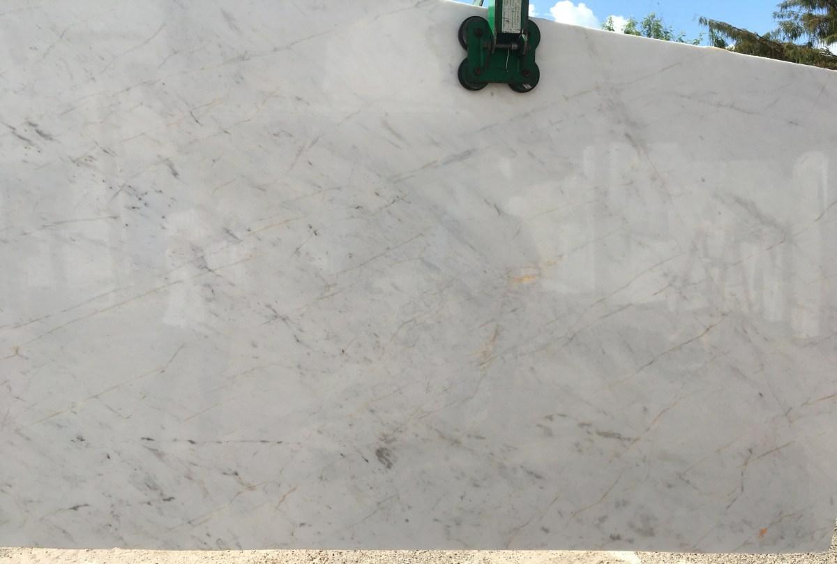 Volakas Semi-white marble Slab Eurostone Houston