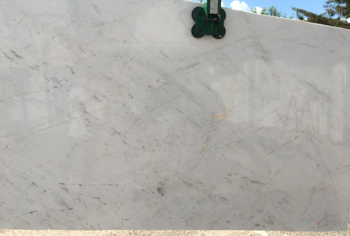 Volakas Semi-white marble Slab Eurostone Houston