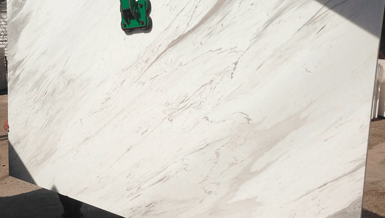 Olympus White Natural Marble Slab Eurostone Houston