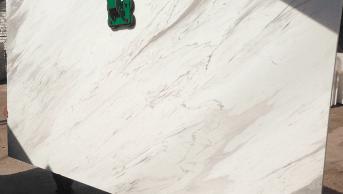 Olympus White Natural Marble Slab Eurostone Houston