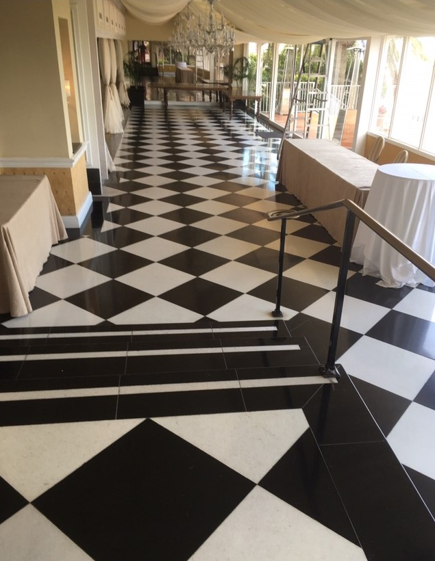 natural marble tile floor miami florida houston texas black and white