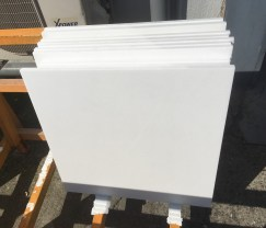 """24""""x24"""" Thassos White Select Natural Marble Tile Production Greece"""