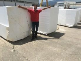 Natural Marble Blocks Greece Eurostone Houston Quality Control
