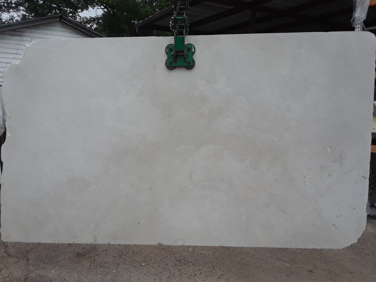 French Vanilla Natural Marble Slab Eurostone Houston