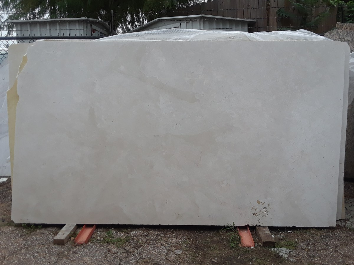 French Vanilla natural Greek marble slab Eurostone Houston