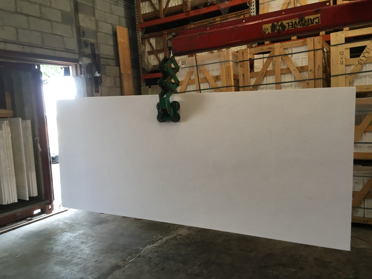 Thassos White Natural Marble Slab Greek Eurostone Houston