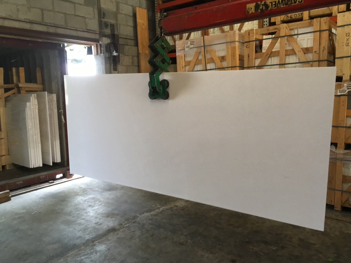 Thassos White Natural marble large slab Eurostone Houston