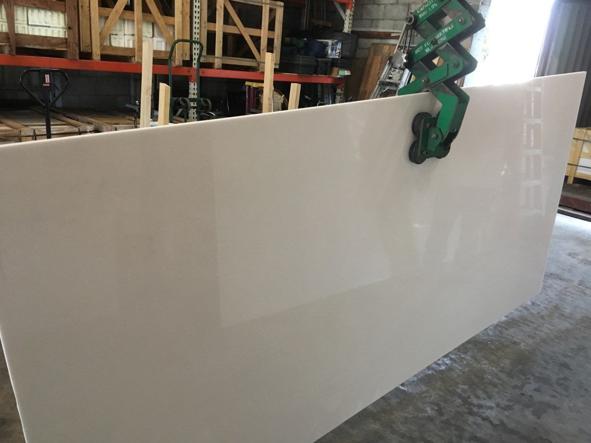 Thassos White natural Greek Polished marble large slab Eurostone Houston