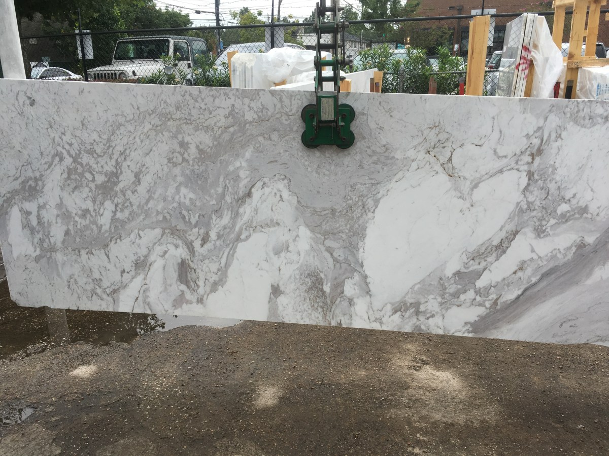 Volakas White Natural Greek Marble Large Slab Eurostone Houston