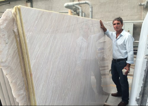 pillion pink natural Greek marble slabs eurostone houston