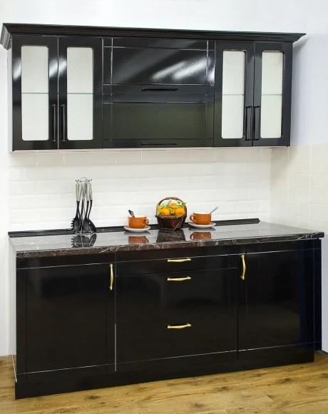 Купить Кухонный гарнитур МДФ глянец черный за 1 сом в ...