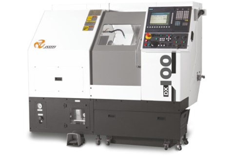 The DX100 turning Center is aimed at the realization of small parts for the medical fields, automotive or hydraulic, for example. It is the smallest machine proposed by Huron.