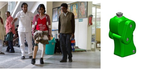 The ReMotion Knee project started in 2008 as a project in a graduate bio-medical engineering class. The class collaborated with the Jaipur Foot Organization, India's largest provider of low cost prosthetics, and later teamed up with San Francisco based designer Vinesh Narayan. In 2010, D-Rev, a non-profit organization dedicated to improving the health and income of people living on less than $4 per day, continued the project with Narayan, who was hired on as a product manager.
