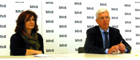 At yesterday's press conference Laurence Gygax, Customer relations and Francis Koller, Director, answered many questions about Siams, the industry and the economic situation.