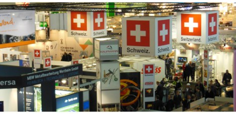 The Swiss booth in Hall 4 is a well placed spot on the main passageways. A place to keep!