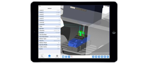 With VERICUT Reviewer on the iPad, shop floor personnel and other production staff can view 3D animations of CNC machining processes at the machine tool, during meetings, or at any other location.