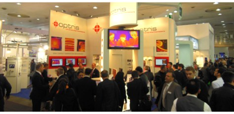 On Hall 11, booth A48, Optris presents its infrared cameras and software capabilities.