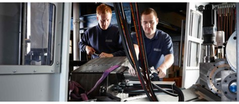 Absolute Care: Holroyd technicians maintain a TG series grinding machine.
