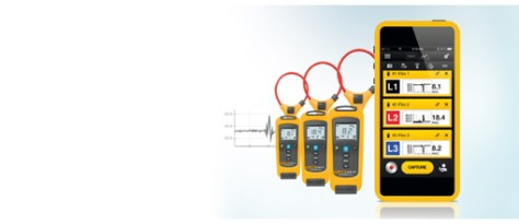 The wireless measuring devices of the Fluke 3000 FC series support the innovative Fluke Connect system, which enables central storage and sharing of measurement data and thermal images via a smartphone app.