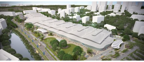 Currently still under construction, the Indonesia Convention Exhibition (ICE) will be Indonesia's largest and most modern exhibition center.It will be part of BSD City, a self-sustained city development strategically located within the greater Jakarta metropolis, and will offer extensive modularity for a wide range of event formats.