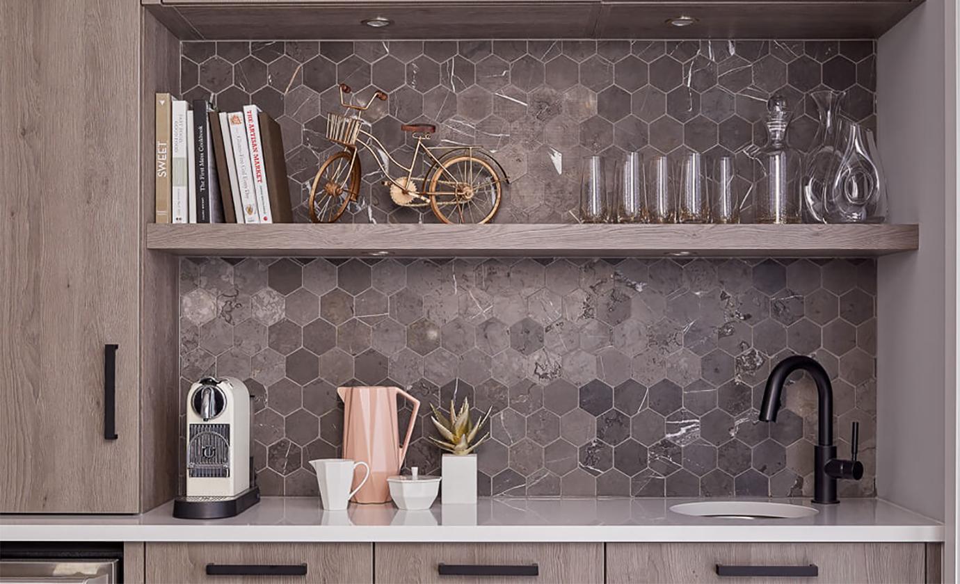 Hexagon Mosaic Backsplash Astro Design Centre