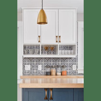 Patterned Backsplash in Kitchen by Grassroots Design