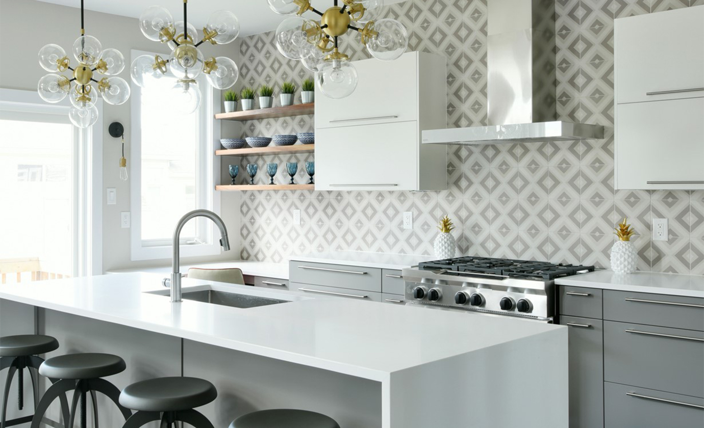 Geometric Backsplash Kitchen Pheonix Homes