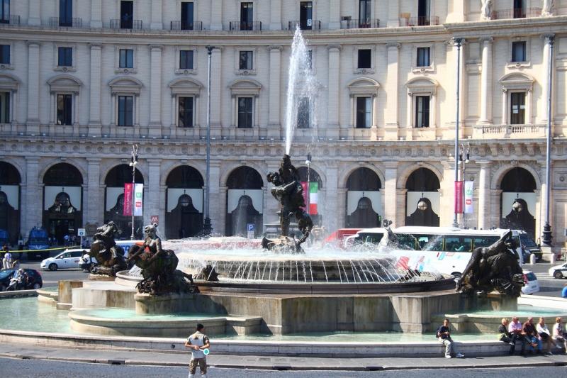 Fuente de las Náyades en Roma