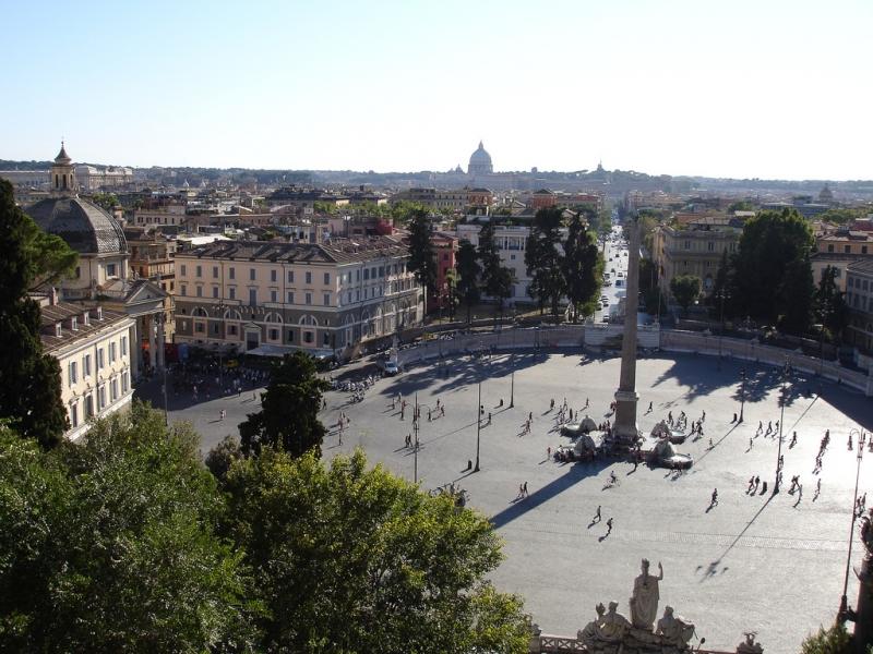 Plaza del Pueblo en Roma