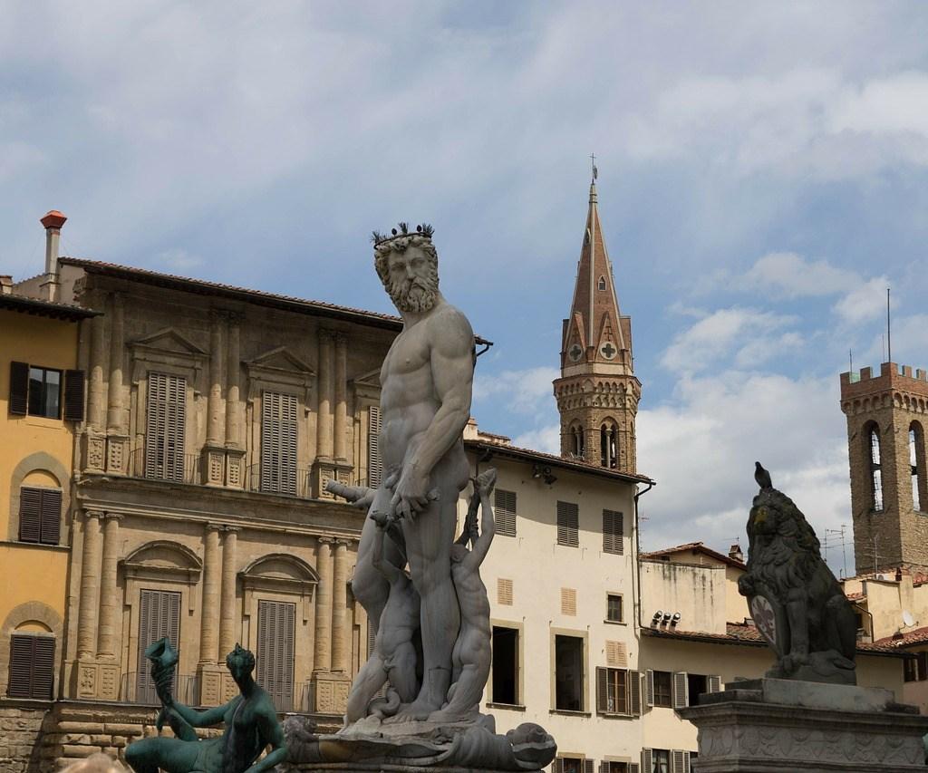 Fuente de Neptuno en Florencia