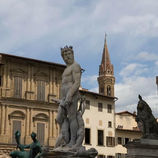 La Fuente de Neptuno en Florencia