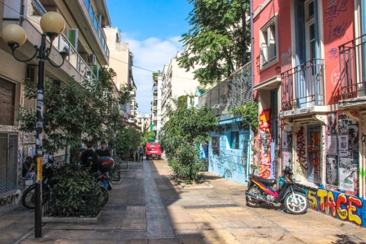 Barrio de Exarquia en Atenas