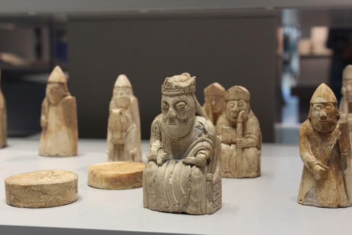 Lewis Chessmen en el Museo Nacional Escocés de Edimburgo