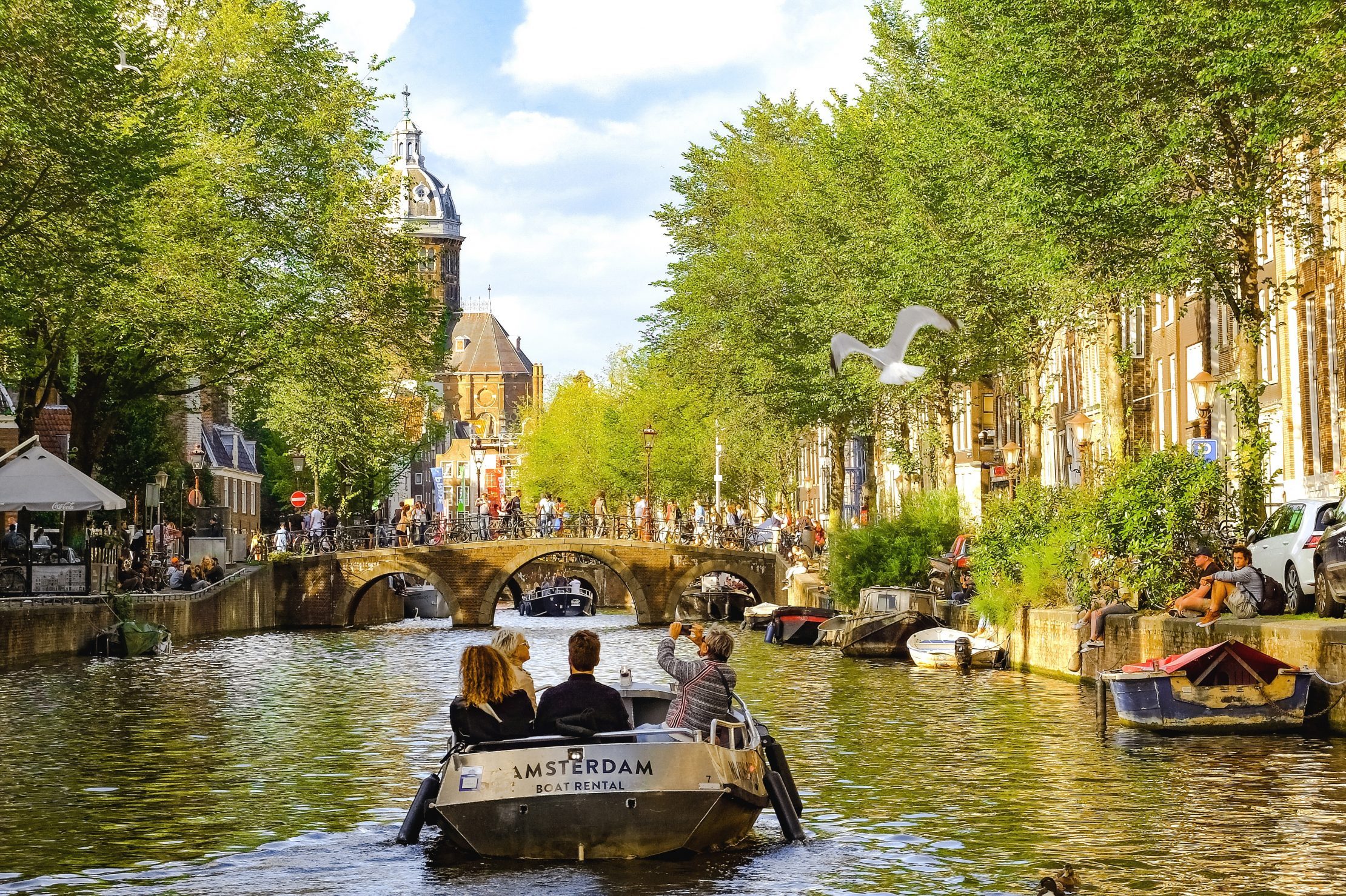 Boat trip along the canals of Amsterdam