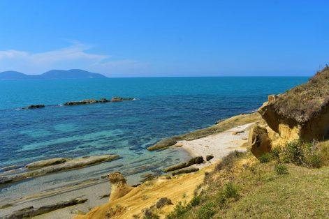 Beautiful and empty hidden beach in Narta Lagoon