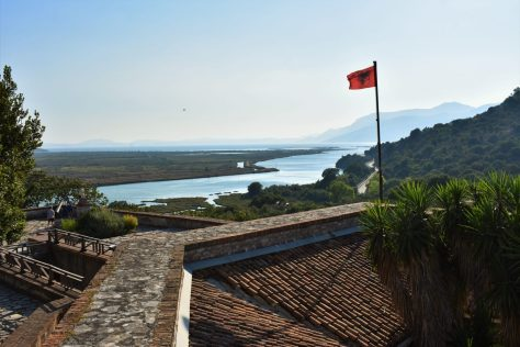 Butrint National Park and lagoon seen from the castle