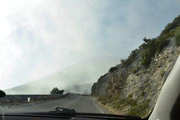 High in Llogara Pass