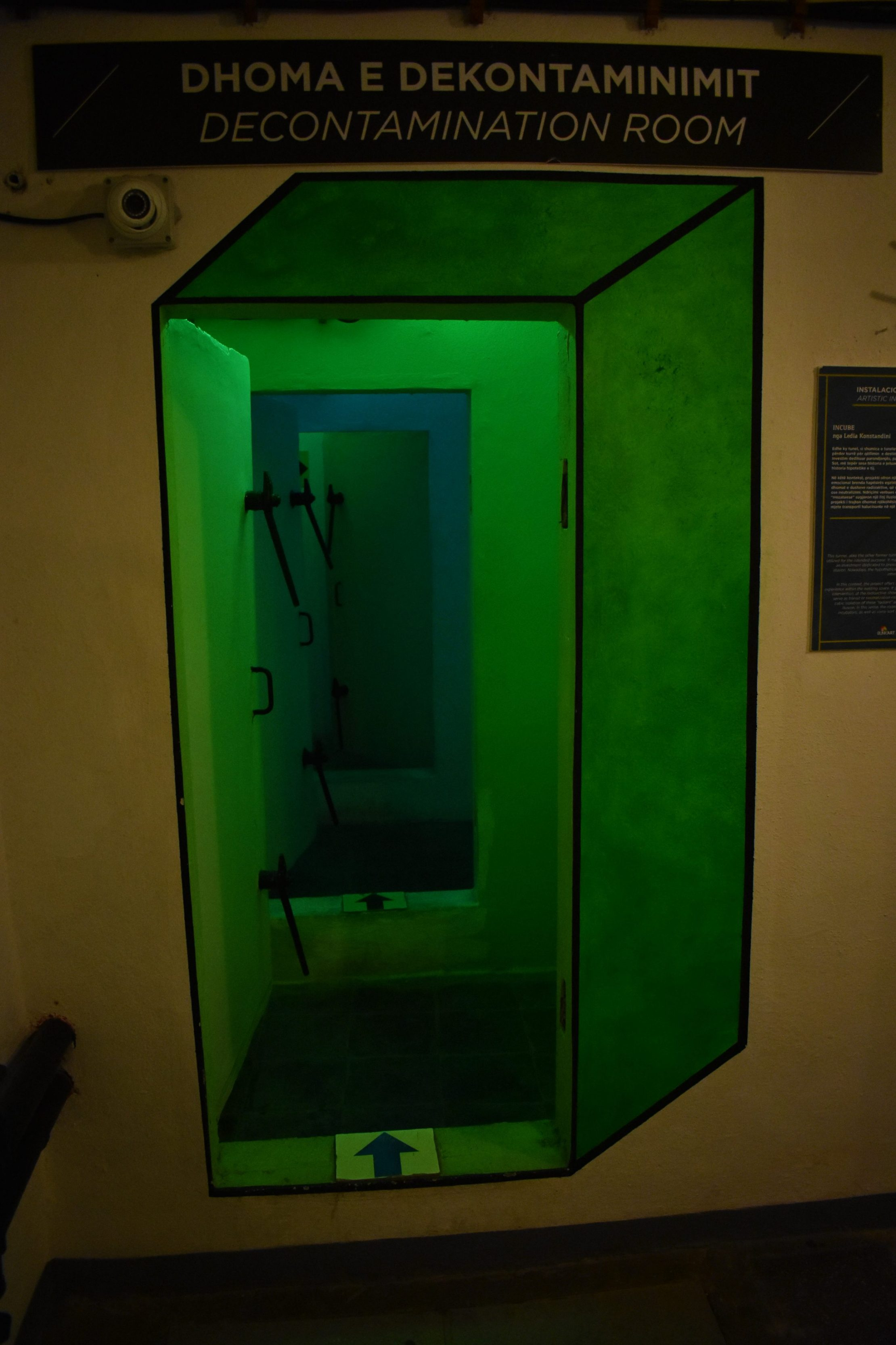 Inside Bunk'Art2 museum in Tirana