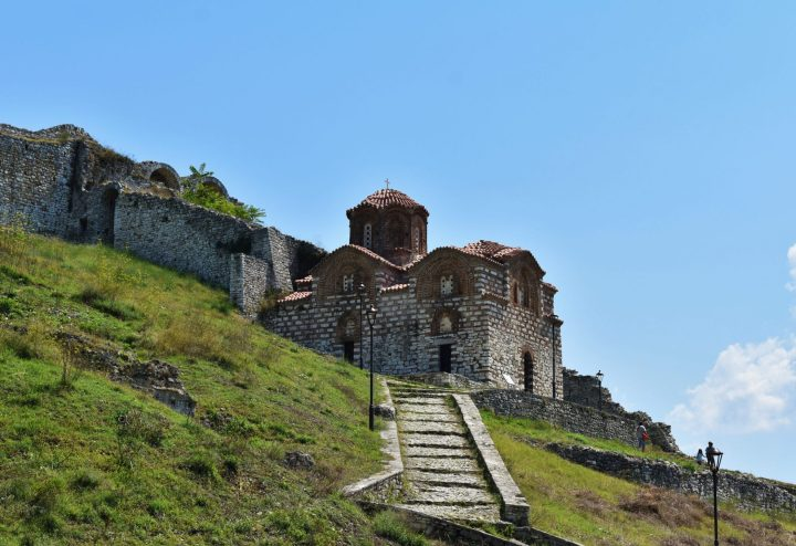 Medieval Byzantine Holy Trinity Church in Berati, Albania