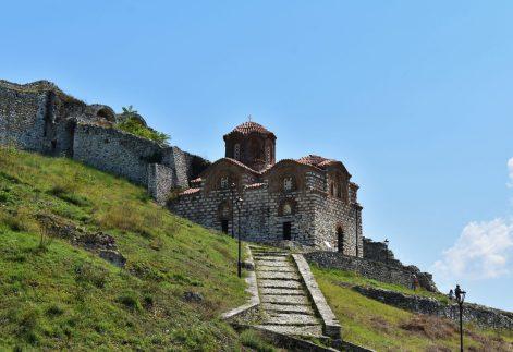Medieval Byzantine Holy Trinity Church in Berati, Albania