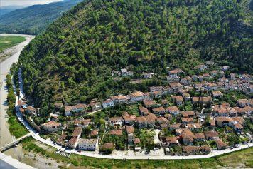 Overview of Berati, Albania