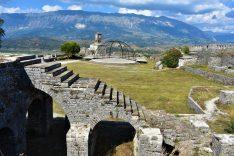 Spectacular castle of Gjirokastra, Albania